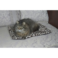 Cat Napper Mat - Leopard Plush